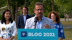 Canada election: Blanchet says not to compare the records of Quebec, Alberta on climate change (00:52)