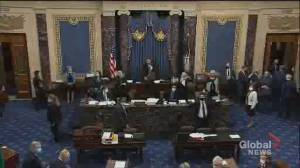 U.S. election: Sen. Grassley pulled from Senate chamber, House in recess (01:42)