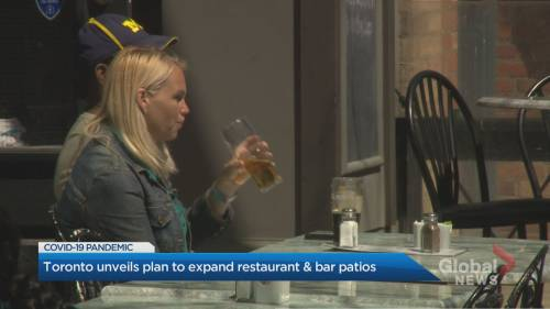 City of Toronto announces new program aimed at helping bar and restaurant owners expand patios | Watch News Videos Online