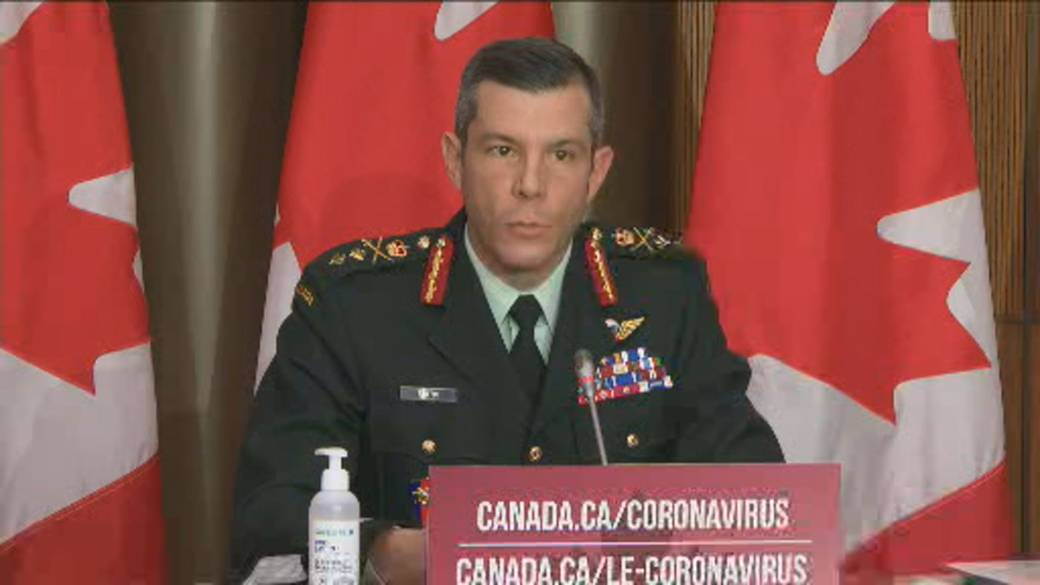Click to play video 'Coronavirus: Canadian military official says first COVID-19 vaccine could arrive Monday'