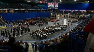 Sights and sounds of 2019 Remembrance Day ceremony at SaskTel Centre