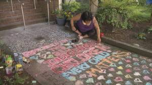 West End resident creates memorial for the 215 children buried at residential school (01:07)