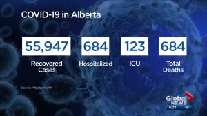 Alberta records 18 more COVID-19 deaths, 1,738 new cases ahead of partial lockdown (03:16)