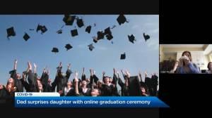 Coronavirus: Okanagan father makes sure daughters' graduation doesn't go unnoticed