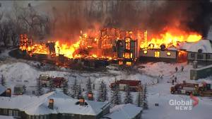 Video shows flames, smoke coming from home under construction near Calgary