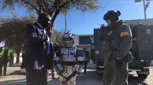Orlando deputies grant 10-year-old's wish to become crime-fighting robot