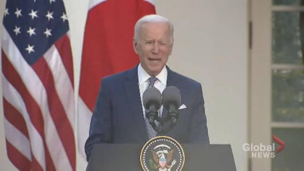 Click to play video: 'Biden calls mass shootings, gun violence across U.S. a 'national embarassment''