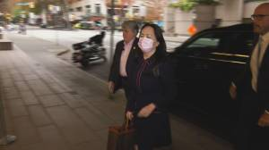 Huawei executive Meng Wanzhou arrives at Vancouver courthouse (00:29)