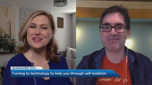 Using tech to cope with self-isolation