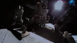 Chinese space agency releases footage of first spacewalk outside Tiangong Space Station (01:23)