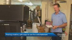 N.B. drive-in theatre offers COVID-19 safe live entertainment (01:47)