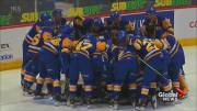 Play video: Saskatoon Blades continue to excel in the WHL's Regina hub
