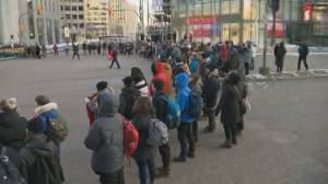 B.C. pipeline protesters fill Portage and Main