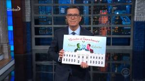 Stephen Colbert counts down to Trump's impeachment with 'advent calendar'