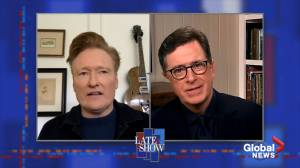 Conan O'Brien joins Stephen Colbert on The Late Show