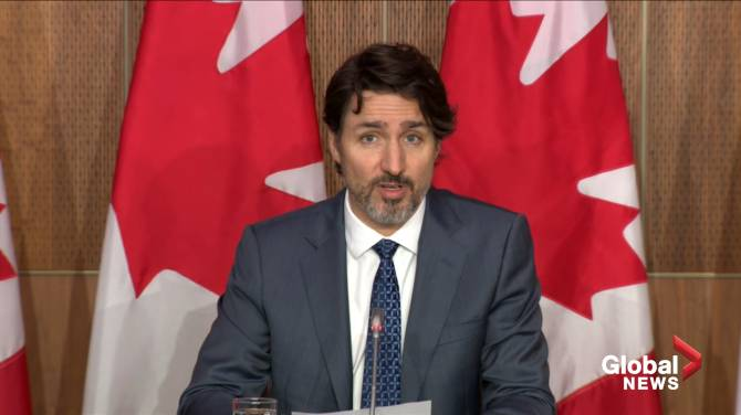 Click to play video: Trudeau slams Conservative platform on addressing climate change