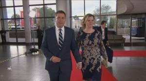 Leaders' Debate: Andrew Scheer arrives for English-language debate in Gatineau