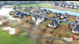 Officials, residents survey the damage after deadly tornado in North Carolina (02:48)