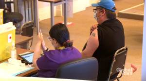 Vaccination clinic for Inuit community opens at Montreal's Douglas hospital (01:40)
