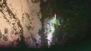 Lucky lost hikers saved during North Shore Rescue training mission (01:45)