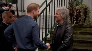 Prince Harry meets with Jon Bon Jovi in one of final engagements as senior royal