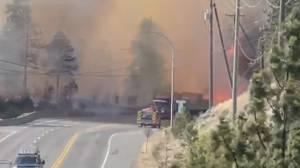 Premier John Horgan's visit to B.C. wildfire zone met with criticism (03:22)
