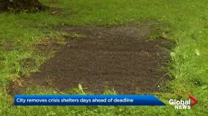 Temporary shelters removed in Nova Scotia (02:04)