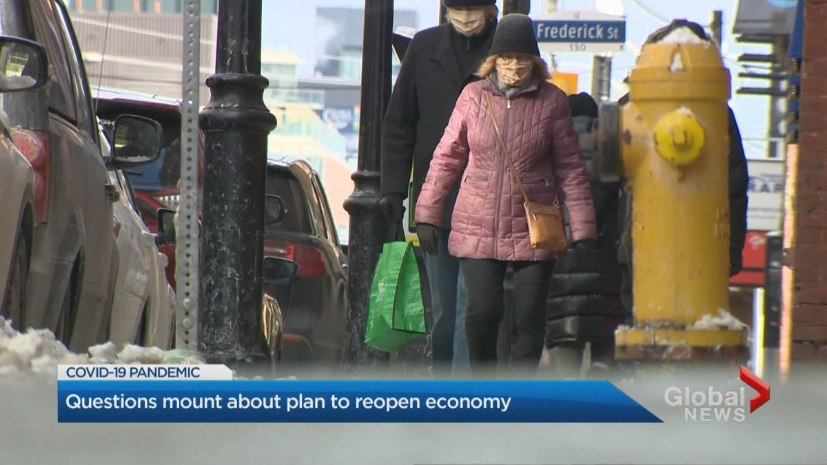 Click to play video 'Coronavirus: Questions mount over plan to reopen Ontario economy'