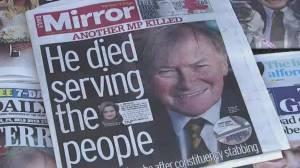 Terrorism being linked to British lawmaker's fatal stabbing (01:59)