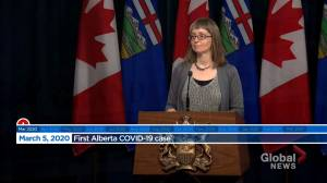 Alberta marks one year since province's first COVID-19 case (01:19)
