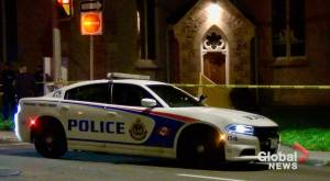 Peterborough police find remains of a fetus outside a church (01:35)