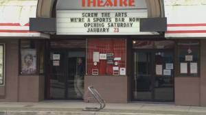 Reaction to announcement B.C. movie theatre will pivot to bar (01:46)