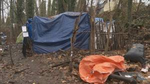 Surrey moves in to remove homeless camp after new shelter opens