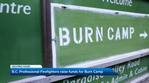 B.C. Professional Firefighters raise funds for Burn Camp