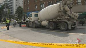 Woman dead after being struck by cement truck near Yonge and Eglinton