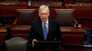 McConnell urges U.S. Senate to reject war powers resolution