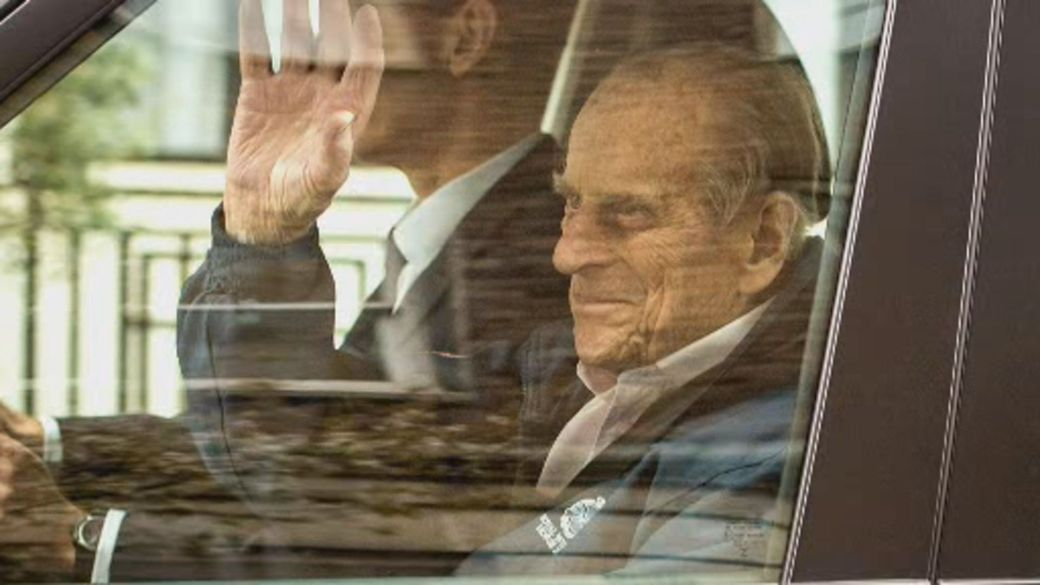 Click to play video 'Prince Phillip, 99, sent to hospital after 'feeling unwell''