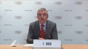 Olympic committee president says NBA will shorten season to allow players to compete in 2020 games (01:08)