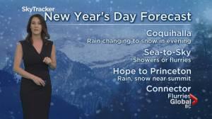 B.C. evening weather forecast: Dec 31