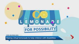 Virtual lemonade stands raising money for children with disabilities