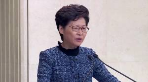 Hong Kong leader says economy looks 'very grim,' city likely to enter recession
