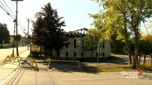 Hampton, NB., funeral home destroyed by fire (01:58)