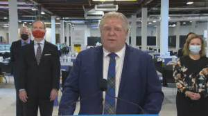 Ford says Budget 2021 to include $3.7 million to help seniors, persons with disabilities get vaccines (03:52)