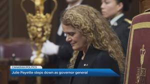 Julie Payette steps down as governor-general after 'scathing report' (06:51)