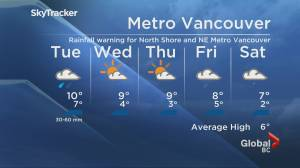 B.C. evening weather forecast: Jan.11 (01:49)