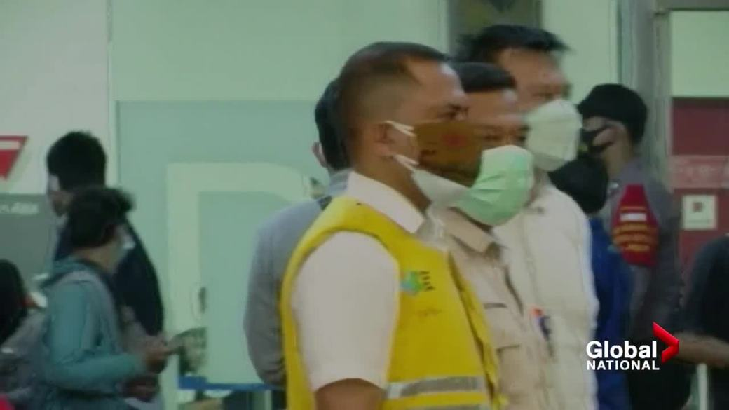 Click to play video 'Indonesian jet believed to have crashed with 62 passengers on board'