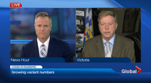 Coronavirus variant case numbers and concern both rising in B.C. (01:43)