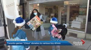 12 Days of Giving: Toronto gamer 'Chica' donates thousands of dollars to various toy drives (01:31)