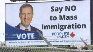 New billboard on Bedford highway calls on voters to 'say no to mass immigration'