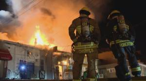 Massive fire guts several Vancouver businesses in Cambie Village (02:21)